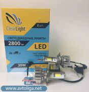 Лампа LED Clearlight H4 2800 lm 2 шт.