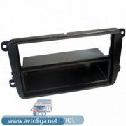 Рамка VW Golf 5, Polo new, Amarok, Touran, Jetta, Passat B6, B7, Candy, Tiguan 2/1DIN (Intro RVW-N01)
